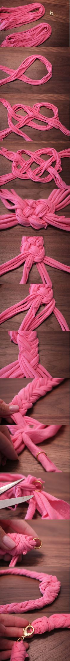 DIY: Use Your Old T-Shirt To Make Necklace