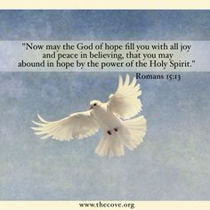 Hope. Joy. Peace.  The power of the Holy Spirit. Inspiration.