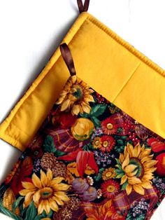 Perfect for FALL & an awesome price too! Set of 2 Potholders featuring Beautiful SunFlowers & Autumn Colors by sewinggranny, $6.00
