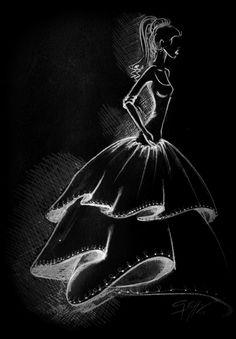 Ilustración - Boceto Ilustraciones de moda - Dibujos de moda- Bocetos de moda / Fashion Illustration - Fashion Drawing - Fashion sketch