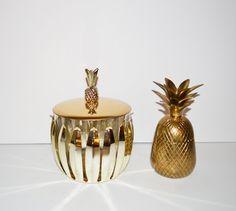 Vintage Silver Pineapple Ice Bucket Mid Century by JudysJunktion, $98.50