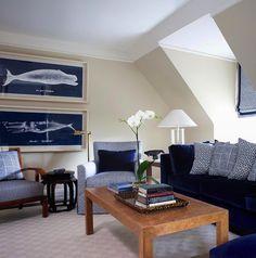 Living room kitchen royal blue gray white on pinterest for Cobalt blue living room