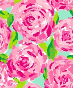 Lily Pulitzer painting inspiration. (sub yellow for pink).