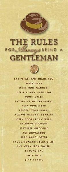 Classic Gentleman Rules - Every Gentlemen Should Follow.