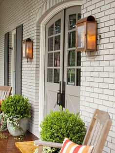 Accessorize Your Entryway... It's the face of your home and one of the easiest and most effective update you can do for curb appeal!