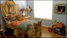 cowboy theme bedrooms-cowboy themed bed-theme beds - Your little cowboy will feel perfectly at home when he sleeps on this unique cowboy adv...