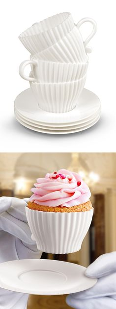 Tea cupcake mold