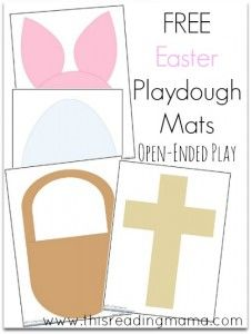 FREE Spring-Themed Playdough Mats for Spring and Easter | This Reading Mama