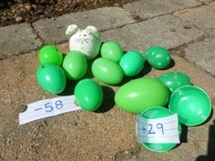 egg hunt for older kids~  This is perfect for neighbor hunt!