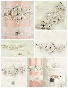 Oooo!!! I want one! Crystal and pearl beaded embroidered lace adorned on French Ivory imported lace.