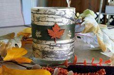 Birch Bark DIY Candle Holder. birdsandblooms.com