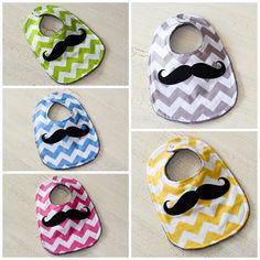 pick 1 Mustache bib mustache bib baby mustache by littlemonkiez, $10.50
