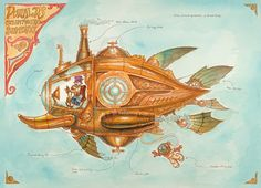 """Donald's Steam Powered Submarine"" by Mark Page, $40"