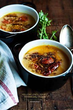 yellow lentil soup | box of spice