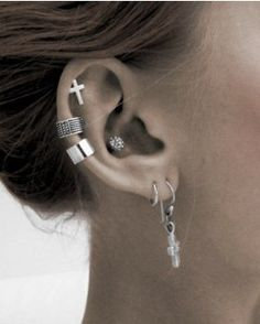 Stylish cartilage piercing earrings #cartilage #earrings www.loveitsomuch.com