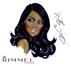 Rimmel London beauty look for LFW day 3. A solid bright blue eye!