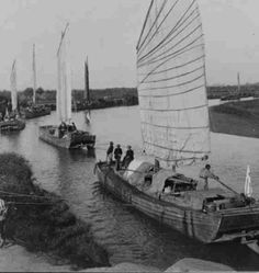 American military forces being resupplied with junks on the river in China during the Boxer Rebellion, 1898-1900.