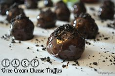 easy oreo cream cheese truffles - Everything in moderation, right? :)