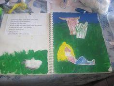 Little Boy Blue art notebook page