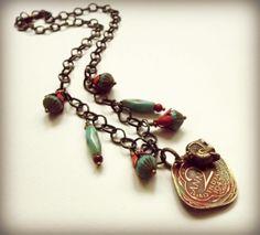 plum bazaar, vintag coin, necklac