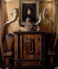 Handsome vignette mix of antiques