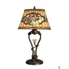 STAR FLOWER TIFFANY TABLE LAMP WITH LED