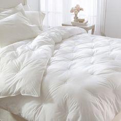 all white down bedding