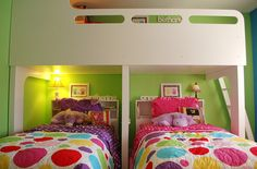 A lovely idea if you have more than two kids... and they have to share a room... Or in a lake house for a kids room