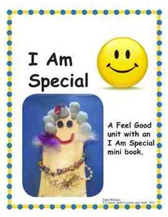 FREE! I Am Special Lesson Plan: Includes Fancy Lady Puppet, a 4 page book you'll be proud to send home to families. And a few more ideas to make kids feel special.  9 pages FREE