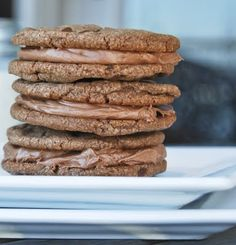 Nutella Sandwich Cookies with a Creamy Nutella Filling