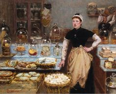 The Cheese Vendor by Edouard-Jean Dambourgez (1844 - 1890)
