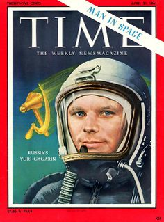 """1961 ~ First Man In Space! ~ Russia's Yuri Gagarin,  """"I see no God up here.""""  http://www.flickr.com/photos/x-ray_delta_one/8679071167/in/photostream/"""