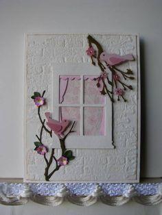 memori box, window bird, cherri blossom, window flower boxes, paper crafts