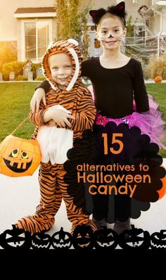 15 Alternatives to passing out Candy for Halloween. Great ideas.