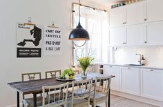 kitchens, dining areas, cabinet door, interior, scandinavian design, stockholm, clothes hangers, kitchen tables, poster