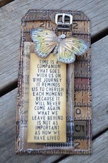 tags, distress ink, craft, ruler tag, card, tim holtz, holtz ruler, emboss folder, alter
