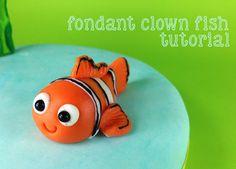 Bake Happy: Under the Sea Themed Tutorial: Fondant Clown Fish