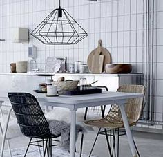 Kitchen cuisine on pinterest ikea kitchen modern kitchens and modern kit - Suspension metal noir ...