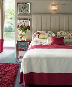 respaldo de cama bedroom idea, laura ashley, guest bedroom, ashley decor, ashley interior, bedroom inspir, bedroom inspriat