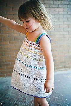 Ravelry: Girls Dress Tiered Sundress pattern by Sarah Lora CROCHET