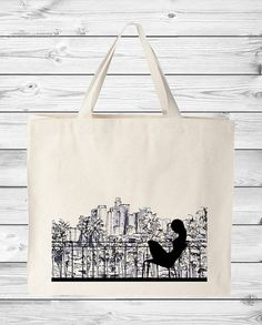 City Illustration (All Cities) Canvas Tote Bag