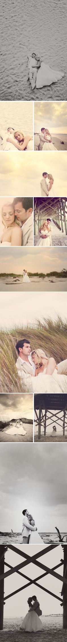Beautiful beach bride & groom.