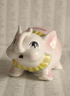 vintage circus elephant piggy bank