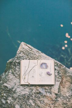 teal and amethyst // photo by Alissa Saylor Photography http://ruffledblog.com/dreamy-rock-quarry-engagement/