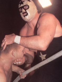 The Masked Superstar aka Bill Eadie.  Eadie would go on to form 1/2 of the 'Demolition' tag team in the WWE