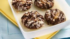 Chocolate-Coconut Thumbprint Cookies