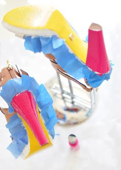 DIY Neon Shoes - Step 2