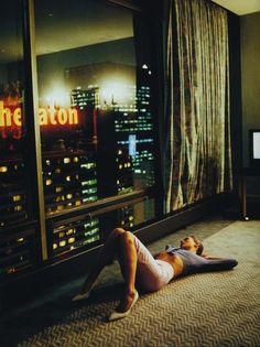 window view, glen luchford, the view, deep thoughts, katemoss, city lights, bright lights, photography, kate moss