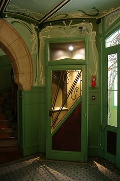Paris, France~Wonderful Art Nouveau door, architect Hector Guimard~PAR_AN Rue La Fontaine 14IMGP1647 photo by Nouveau Voyages, via Flickr
