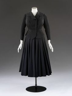 Skirt suit, unknown maker, 1950s
